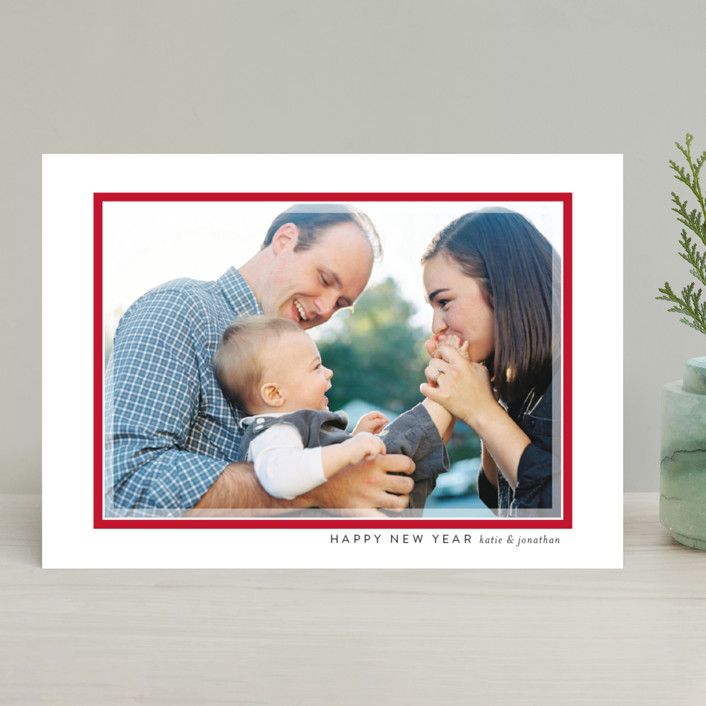 """""""Softest Frame"""" - Holiday Photo Cards in Winter Sky by Jessica Williams."""