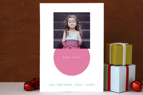 Mini Circle Holiday Photo Cards