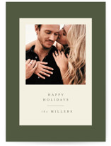 This is a green holiday photo card by Nazia Hyder called Modern Classic Holiday with standard printing on smooth signature in standard.