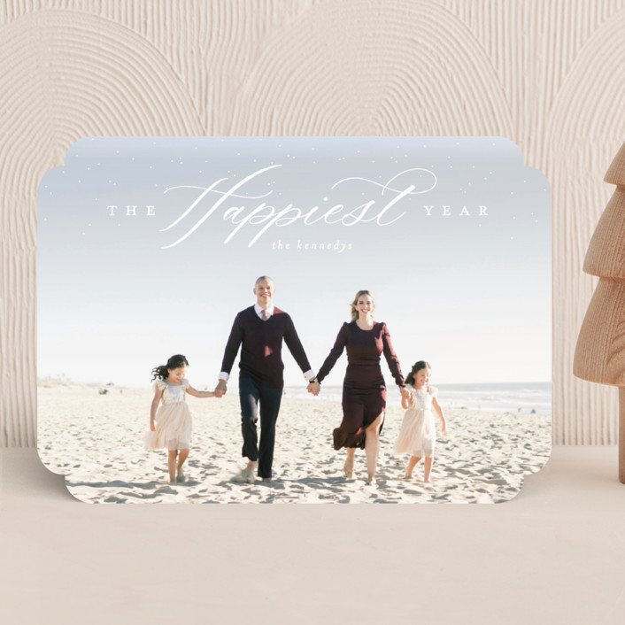 """""""It's A Wonderful Life"""" - Holiday Photo Cards in Snow by Calluna Fine Paper."""