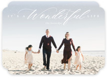 This is a white holiday photo card by Heather Cairl called It's A Wonderful Life with standard printing on smooth signature in standard.
