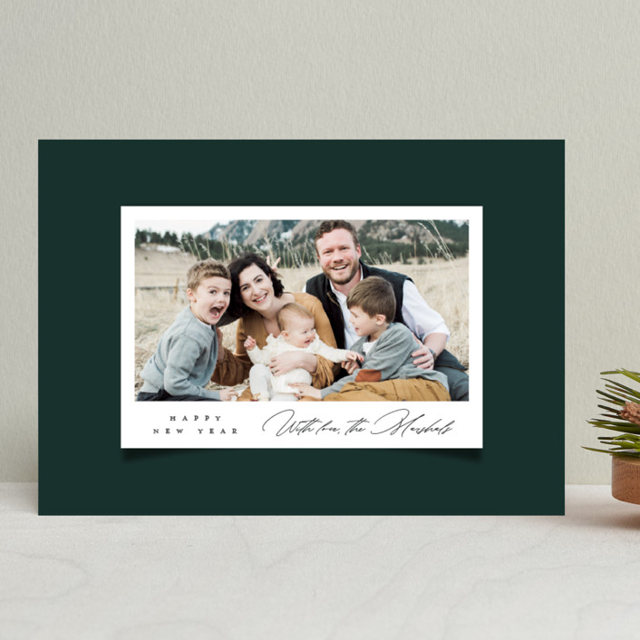 """Snap"" - Vintage Holiday Photo Cards in Spruce by Up Up Creative."