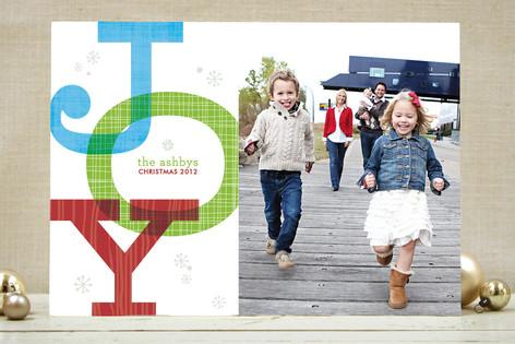 Retro Joy Holiday Photo Cards