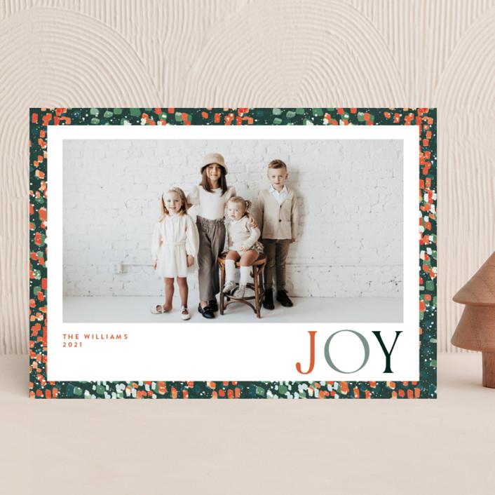 """joyful dash"" - Holiday Photo Cards in Holly Berry by Robin Ott."