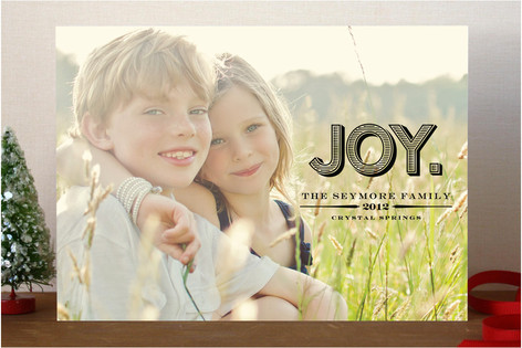 Carved Joy Holiday Photo Cards