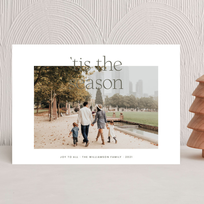 """""""'Tis the Season"""" - Holiday Photo Cards in Fir by Blustery August."""