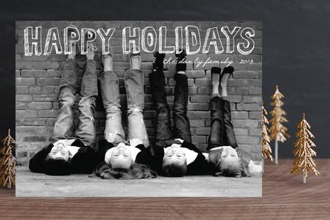 Hand Drawn Holiday Holiday Photo Cards