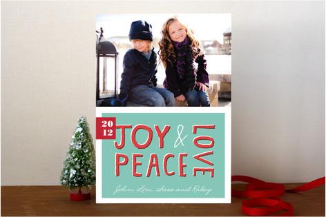 Tropical Joy Holiday Photo Cards