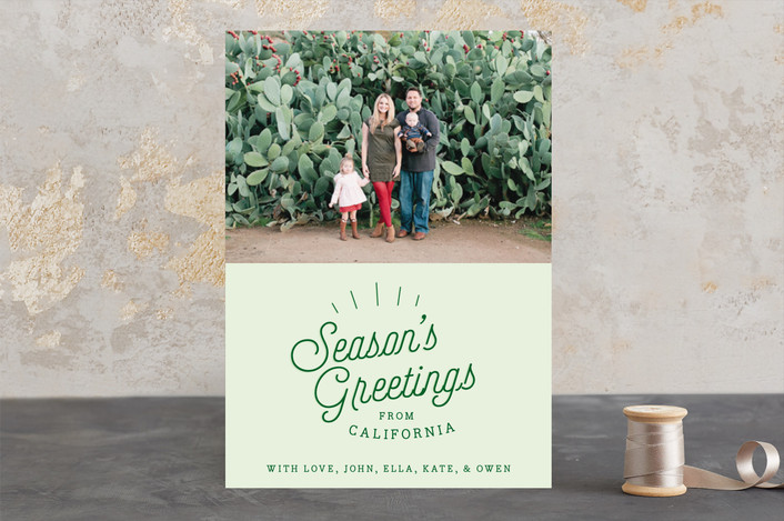 """Season's Greetings From.."" - Holiday Photo Cards in Pine by Half Pint Studio."