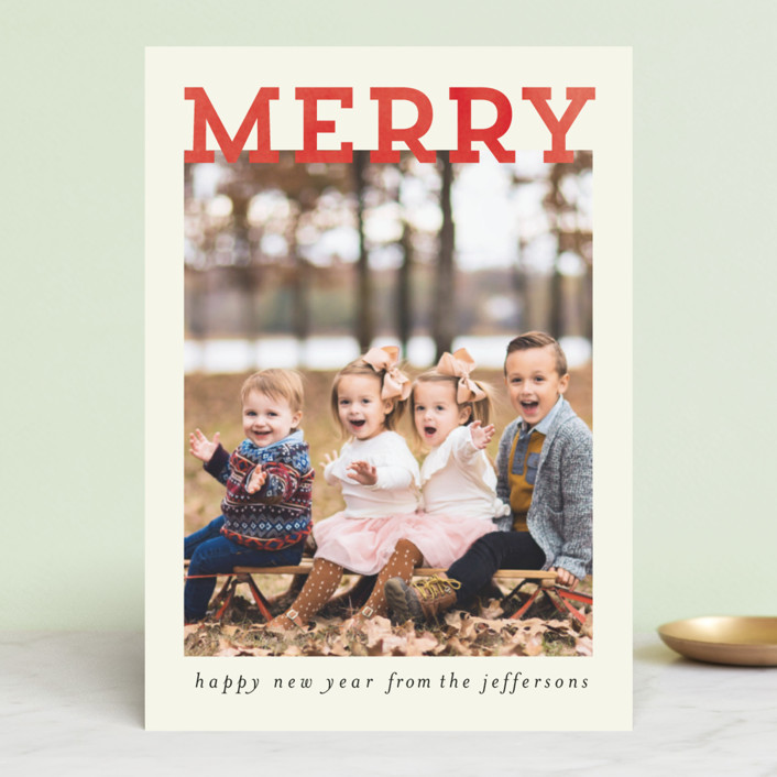 """""""Merry and Silly"""" - Holiday Photo Cards in Stocking by Chris Griffith."""
