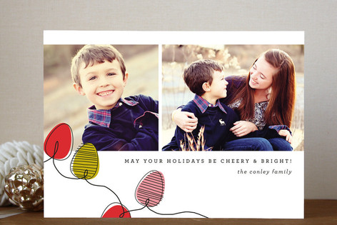 String O'Lights Holiday Photo Cards