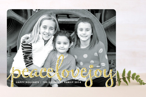 Type Frost Holiday Photo Cards