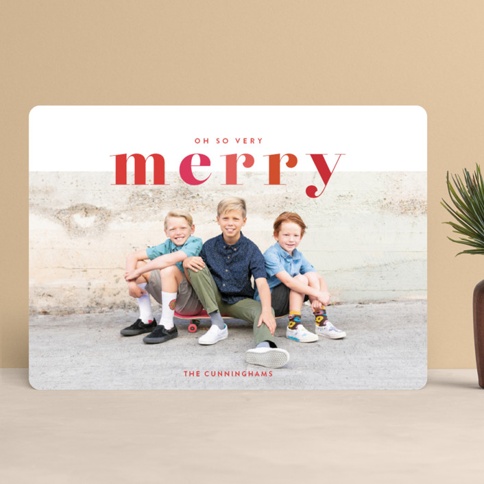 """Color Me Merry"" - Holiday Photo Cards in Berry by Shari Margolin."