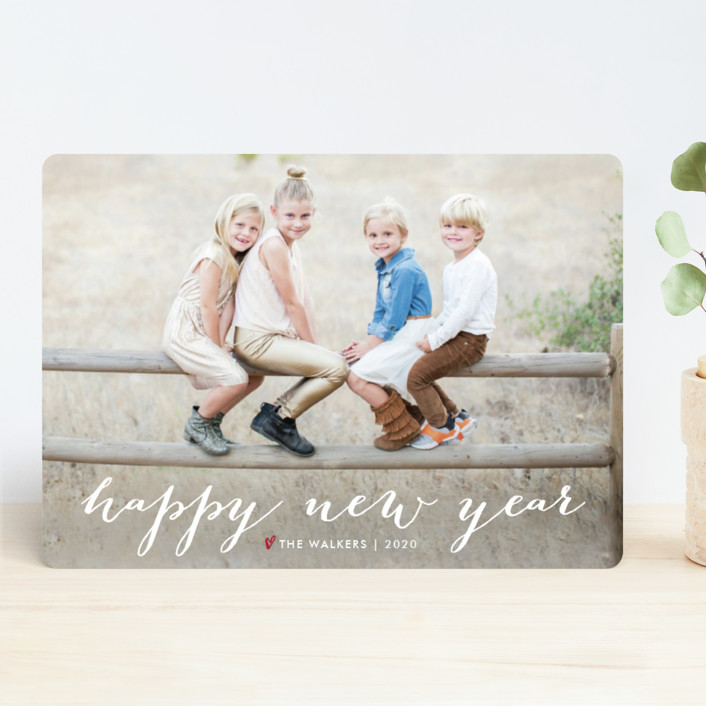 """Simple Joy"" - Holiday Photo Cards in Snow by Fig and Cotton."
