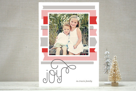 Washi Ribbons Holiday Photo Cards