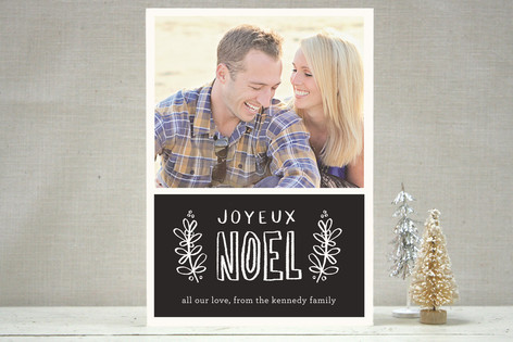 Chalk Holiday Holiday Photo Cards