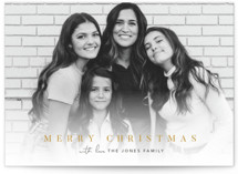 This is a yellow holiday photo card by Pine and Lark called jubilance with standard printing on smooth signature in standard.