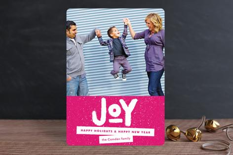 Standout Joy Holiday Photo Cards