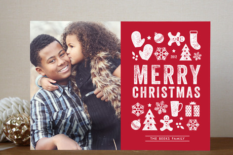Christmas Dingbats Holiday Photo Cards