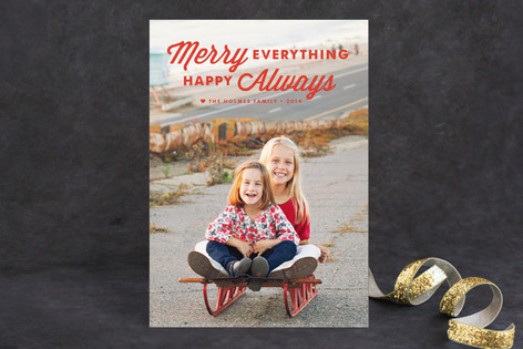 Merry Always Holiday Photo Cards