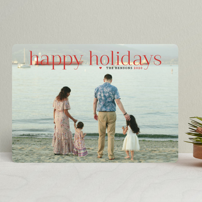 """""""Timeless Greeting"""" - Holiday Photo Cards in Holly Berry by Alston Wise."""