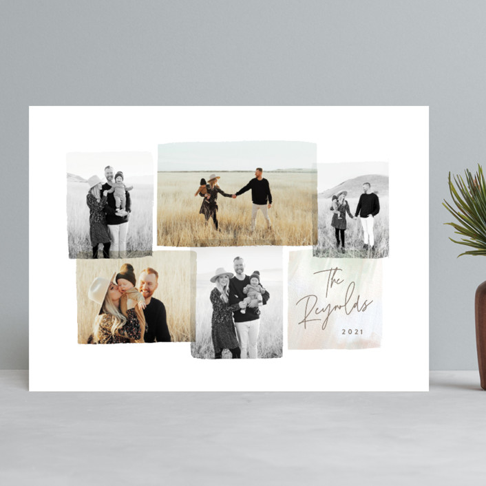 """""""Magical Moments"""" - Holiday Photo Cards in Sunset by Hooray Creative."""