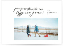 This is a black holiday photo card by Ana Sharpe called Dashing Trought the Snow with standard printing on smooth signature in standard.