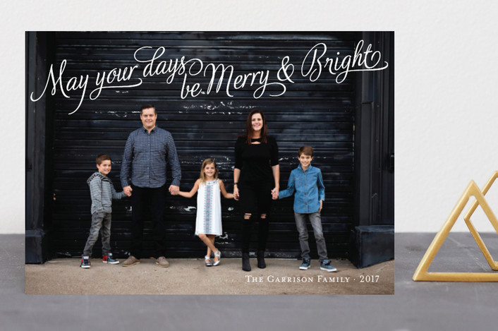 """Bright Elegance"" - Elegant, Full-Bleed Photo Holiday Photo Cards in Snow by Tim St. Clair."
