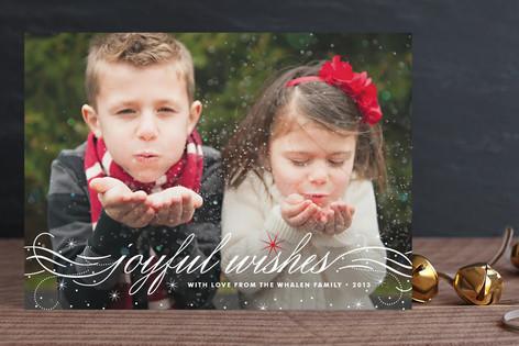 Joyful Wishes Holiday Photo Cards
