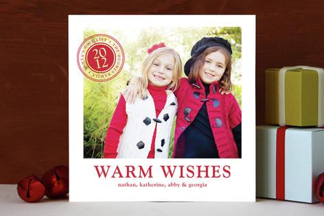Santa Seal Holiday Photo Cards