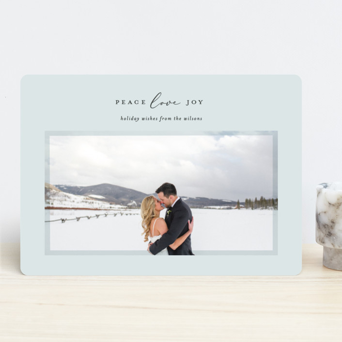 """Serene Frame"" - Holiday Photo Cards in Ice by Ekko Studio."