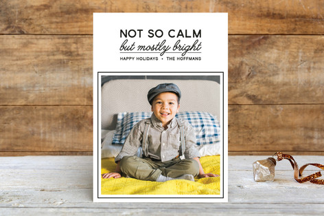 Not So Calm Holiday Photo Cards