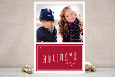 Twine and Vintage Holiday Photo Cards