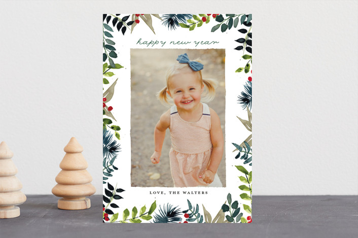 """""""Winter Whimsy"""" - Holiday Photo Cards in Fern by Lindsay Megahed."""