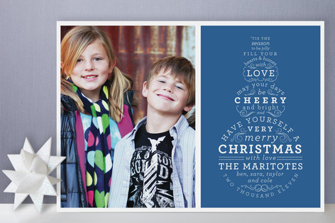 Snowman Type Holiday Photo Cards