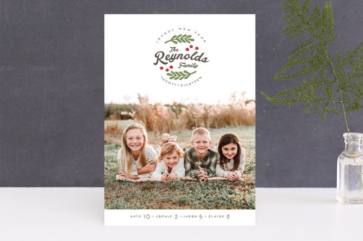 """All Together"" - Vintage Holiday Photo Cards in Emerald by Lorent and Leif."