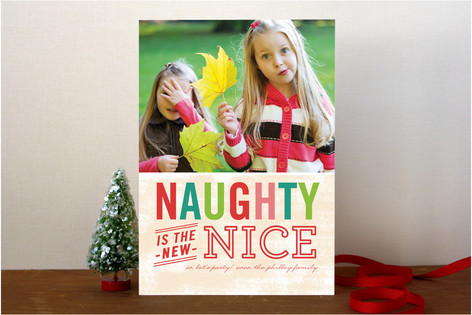 Naughty is Nice Holiday Photo Cards