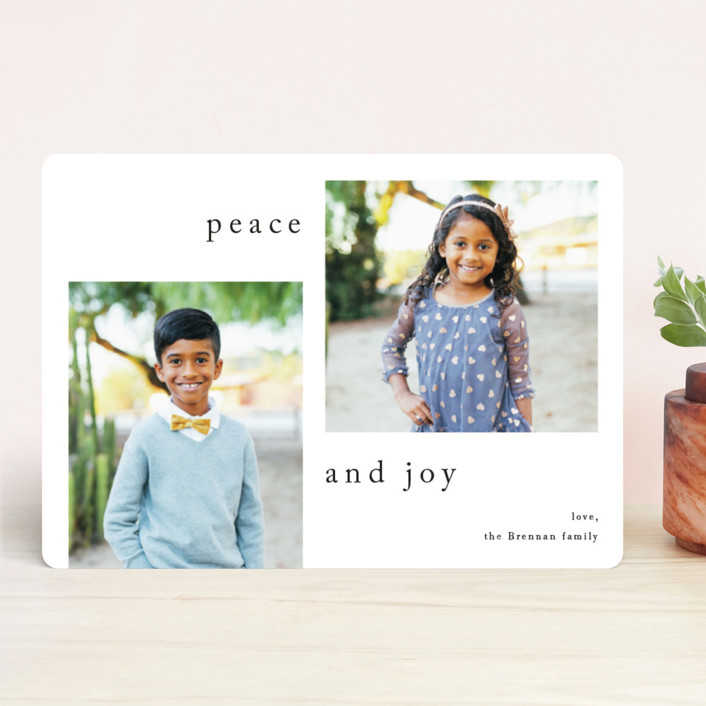 """Sway"" - Holiday Photo Cards in Cookies and Cream by Jennifer Lew."