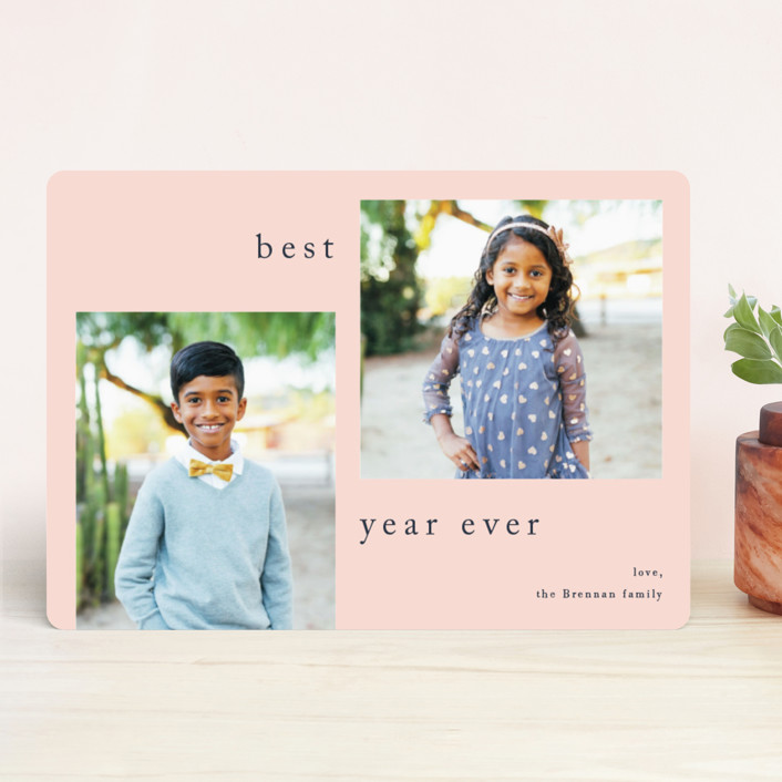 """""""Sway"""" - Holiday Photo Cards in Cookies and Cream by Jennifer Lew."""