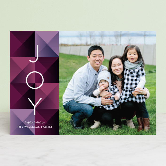 """Geo Blocks"" - Modern Holiday Photo Cards in Evergreen by Jessica Williams."