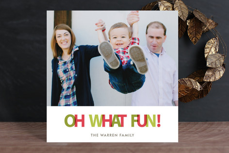 Oh What Color Holiday Photo Cards