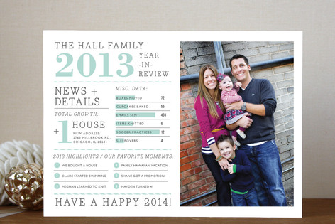 year in review holiday card