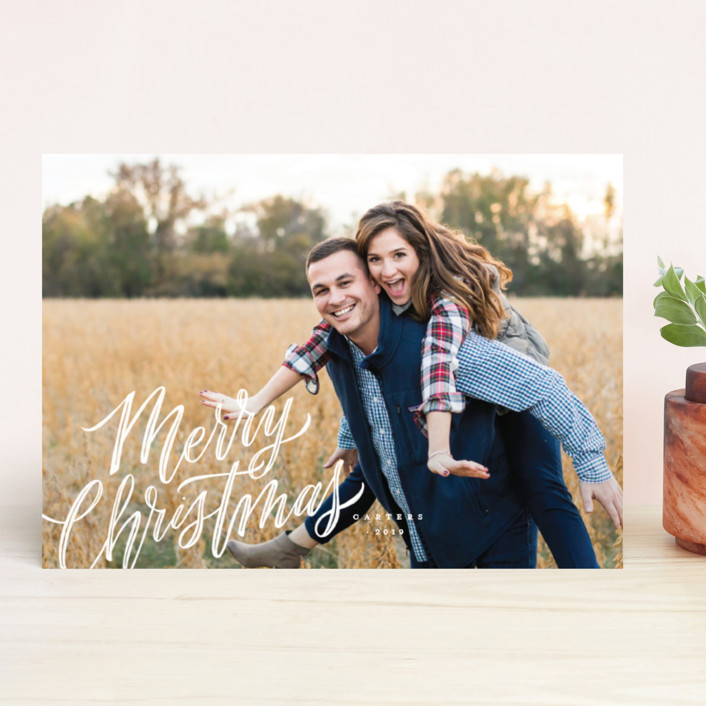"""""""Whimsically Merry"""" - Holiday Photo Cards in Snowflakes by Wildfield Paper Co.."""