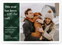 This is a green holiday photo card by Erin German called Ruff Year with standard printing on smooth signature in standard.