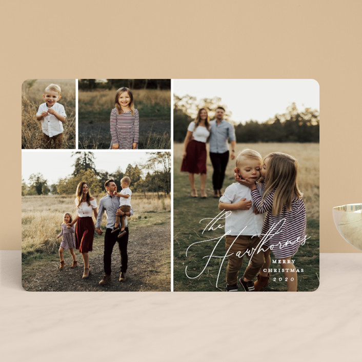 """""""Tiled"""" - Holiday Photo Cards in Snowdrift by Stacey Meacham."""