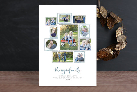 Family Wall Holiday Photo Cards