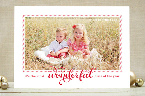 Peppermint Crew Holiday Photo Cards