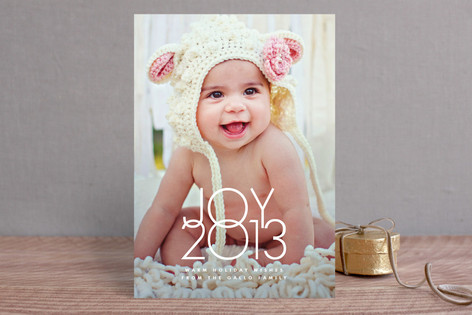 Typeset Joy Holiday Photo Cards
