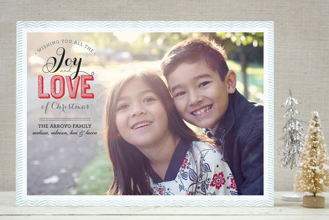 Joy & Love Holiday Photo Cards