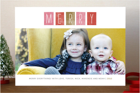 Just Merry Holiday Photo Cards
